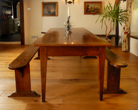 antique oak french farmhouse table - Antique Farmhouse Kitchen Tables