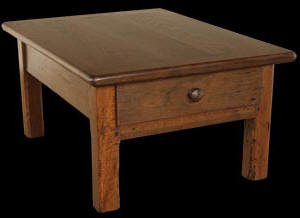 Antique Oak And Cherry Coffee Table