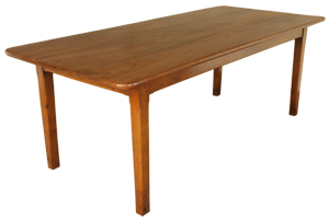 Three Plank Top Wide Cherry Farmhouse Table