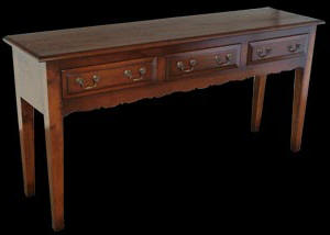 Reproduction French Cherry Three Drawer Serving Table