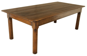 Wide Antique Chestnut Table