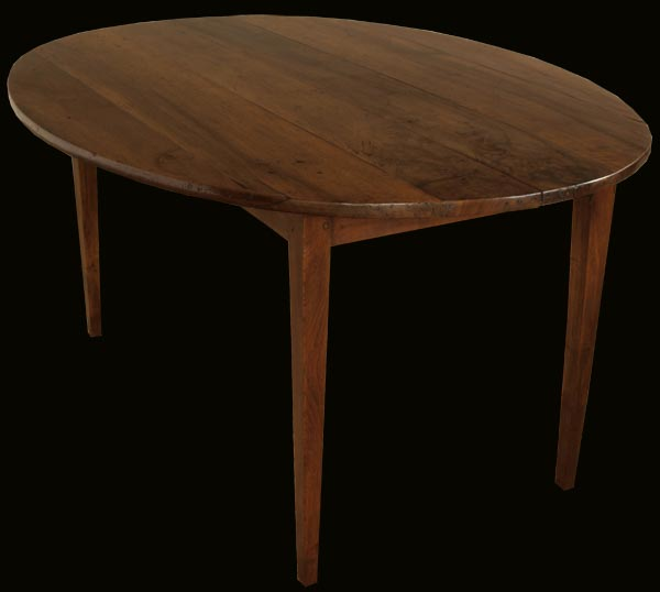 Antique French Oval Walnut Table