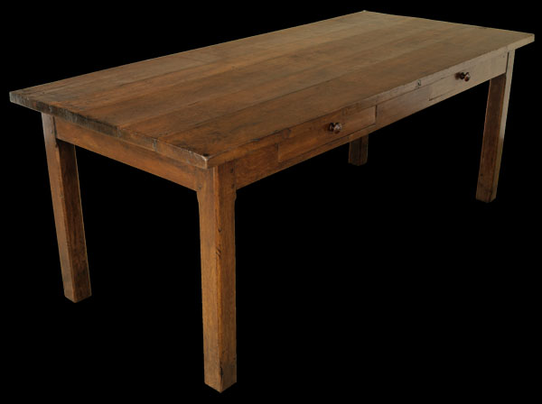 Dining table farmhouse dining table drawers Dining table with drawer