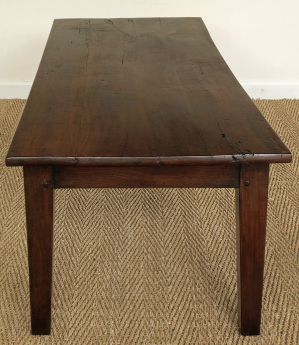 Long Antique Cherry Wood Coffee Table