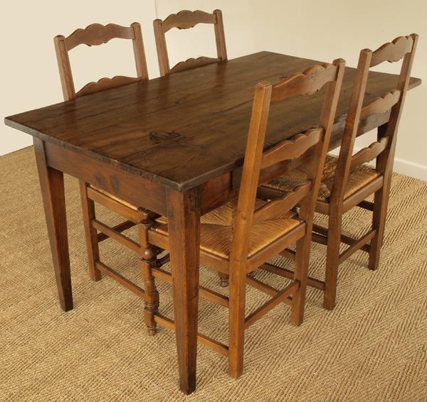 French Oak Kitchen: Antique French Oak Kitchen Table