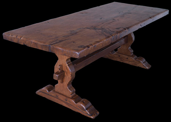 Antique Refectory Trestle Style Table