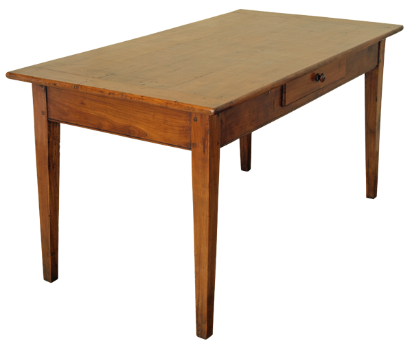Kitchen Table Drawers: Antique French Cherry Kitchen Table With Drawers