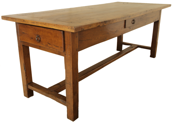 antique pear wood refectory table french
