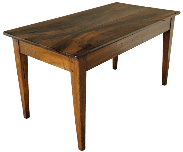 Walnut Kitchen Table: Antique French Walnut Kitchen Table