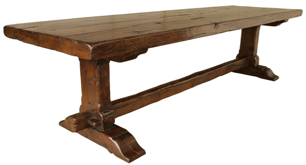 Large Antique Oak Refectory Trestle Table French : TAB1651 1220600W from www.alexanderpaulantiques.com size 600 x 324 png 139kB